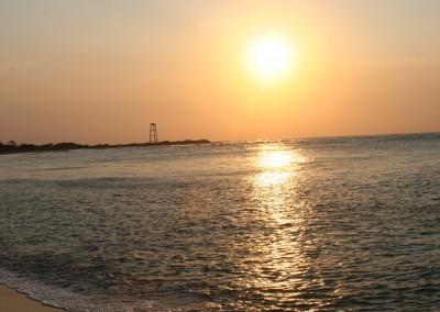 Sunset at the lighthouse beach