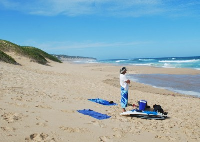 """The unspoilt and remote """"wild"""" beach."""