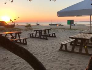 Beach bar on Inhaca Island