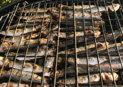 Fresh fish on the grill